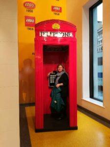 Sabine Schwarze in Londin, Lego Shop